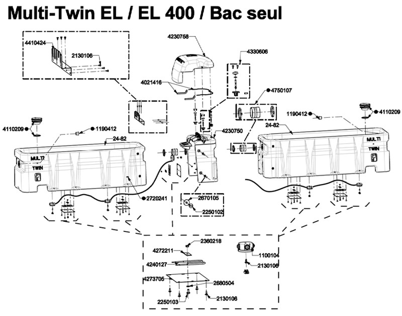 MULTI TWIN EL & EL 400 BAC SEUL